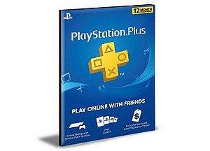 PSN PLUS 12 Meses Playstation User Ps4 e PS5 Mídia Digital