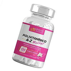 Polivitamínico A - Z Mulher Profissional Beleza 120 Cápsulas