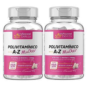 02 Polivitamínico A - Z Mulher Profissional Beleza 120 Cápsulas