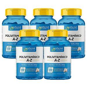 05 Polivitamínico 500mg A - Z Profissional Beleza 120 Cápsulas