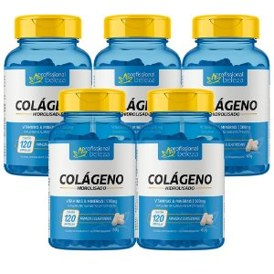 05 Colágeno Hidrolisado Profissional Beleza 120 Cápsulas