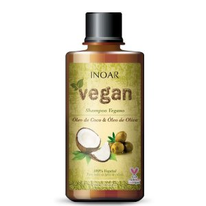 Shampoo Vegan Óleo De Coco E Óleo De Oliva Inoar 300ml
