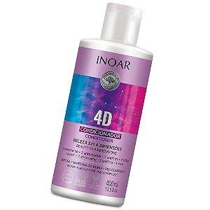 Inoar 4d Condicionador Anti Volume E Anti Frizz 400ml