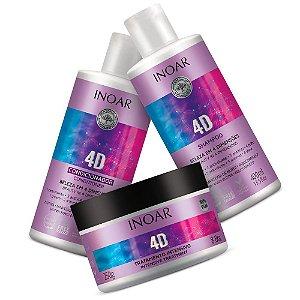 Kit Inoar 4d Shampoo + Condicionador 400ml + Máscara 250g