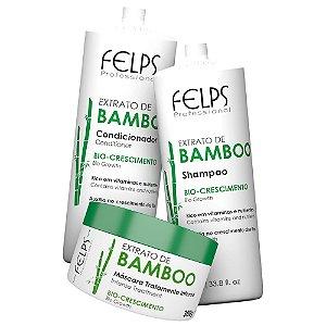 Kit Felps Bamboo Shampoo + Condicionador 2x1000ml + Máscara 300g