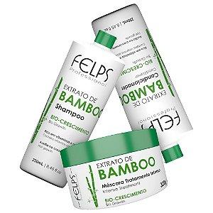 Kit Felps Bamboo Shampoo + Condicionador 2x250ml + Máscara 300g