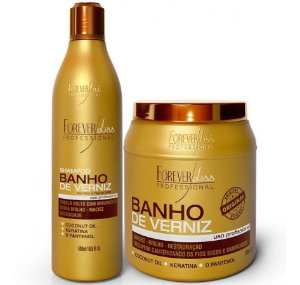 Forever Liss Banho De Verniz Shampoo + Máscara 1000g