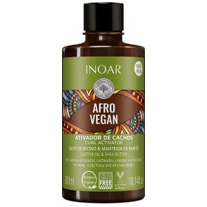 Inoar Ativador De Cachos Vegano Afro Vegan 300ml
