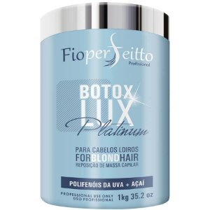Botox Lux Platinum Blond Hair Profissional Fioperfeitto 1000g