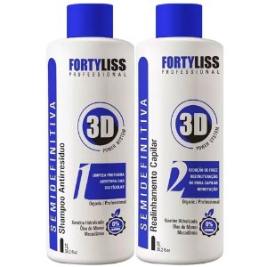 Semi Definitiva 3d Sem Formol Fortyliss 2x1000ml