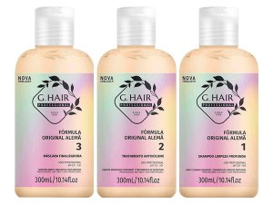 Escova Progressiva Alemã  G Hair 3x300ml