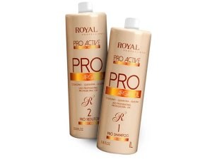 Escova Progressiva Pro Active Argan Oil Royal 2x1000ml