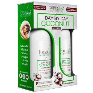 Forever Liss Kit Shampoo e Bálsamo Day By Day Coconut 2x300ml