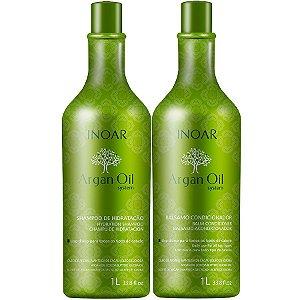 Inoar Argan Oil System Shampoo + Condicionador Litro