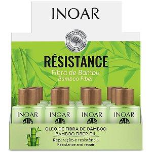 Inoar Kit 12 Óleo Résistance Fibra De Bambu 7ml