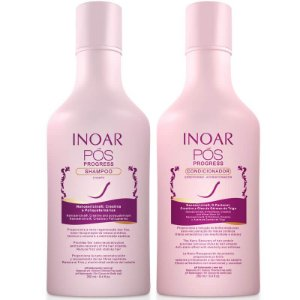 Inoar Kit Duo Pós Progress Shampoo 250ml Condicionador 250ml