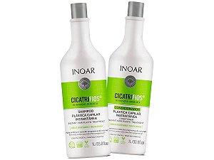 Inoar Shampoo + Condicionador Cicatrifios Plástica Capilar 2x1000ml