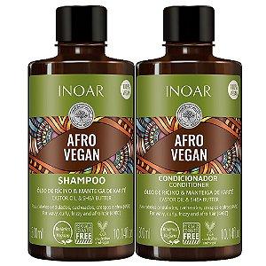 Inoar Kit Cachos Shampoo + Condicionador Afro Vegan 300ml