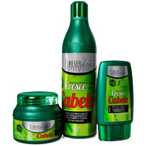 Kit Forever Liss Cresce Cabelo Shampoo + Leave-in + Máscara 250g