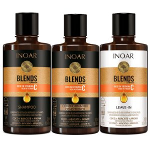 Inoar Kit Blends Shampoo + Condicionador + Leave-in 300ml