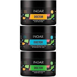 Inoar Kit Máscara Doctor Hidratação + Reconstrução + Nutrição 250g