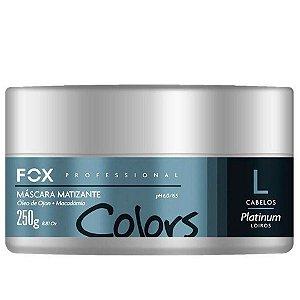 Mascara Platinum Matizador Cabelos Loiros Fox Gloss 250g