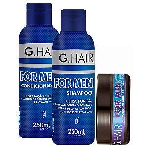 Shampoo + Condicionador + Pomada Capilar 100g For Men G Hair