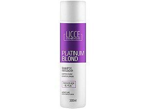Shampoo Matizador Platinum Blond Licce Cosméticos 300ml