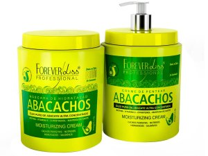 Kit Forever Liss Máscara Abacachos + Leave-in Abacachos 950g