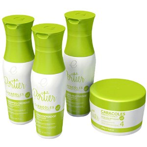 Kit Completo Cachos Caracoles Portier 4 itens