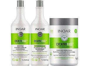 Inoar Cicatrifios Shampoo + Condicionador Litro + Máscara