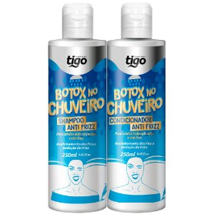 Kit Botox No Chuveiro Antifrizz Tigo Cosméticos 2x250ml