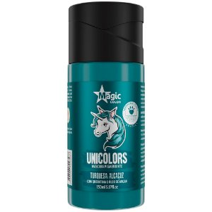 Matizador Capilar Unicolors Turquesa Alcaçuz Magic Color 150ml