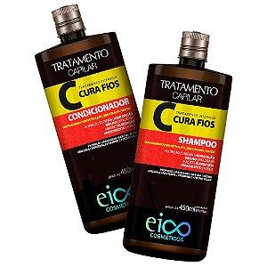 Kit Eico Life Cura Fios Shampoo + Condicionador 450ml