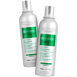 Kit Hidratação Shampoo E Condicionador Biomask Prohall 300ml