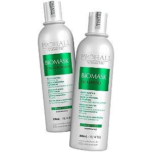 Kit Hidratação Shampoo E Condicionador Biomask Prohall 300ml