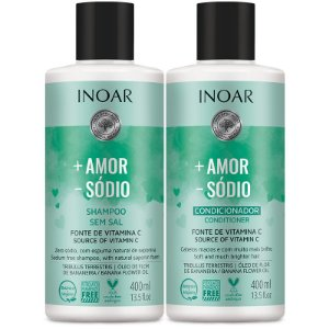 Kit Inoar Shampoo + Condicionador + Amor - Sódio 400ml