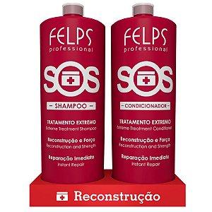 Kit Duo Sos Shampoo + Condicionador Felps 2x1000ml
