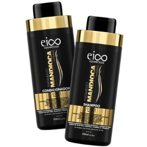 Kit Eico Cosméticos Mandioca Shampoo + Condicionador 450ml