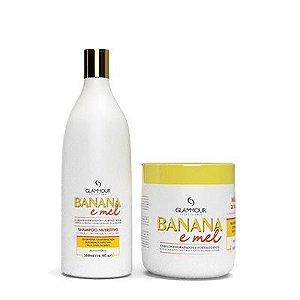Linha Manutenção Banana e Mel 2x500ml - Glammour Professional