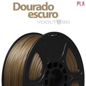 Filamento PLA Dourado Escuro - 1 kg