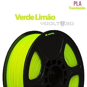 Filamento PLA Verde Limão Translúcido - 1 kg