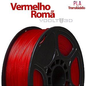 Filamento PLA Vermelho Romã Translúcido - 1 kg