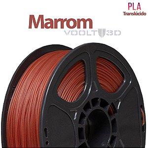 Filamento PLA Marrom Translúcido