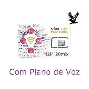 CHIP M2M para rastreadores investigativo com plano de vóz