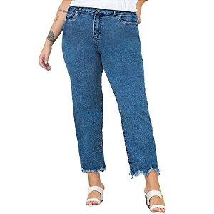 Calça Jeans Lisamour Barra Desfiada
