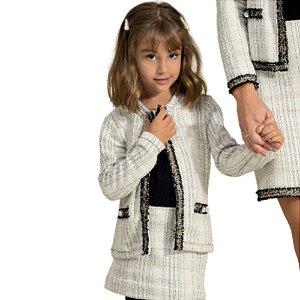 Casaco Doce Trama Tweed Infantil