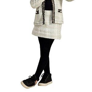 Saia Doce Trama Tweed Infantil