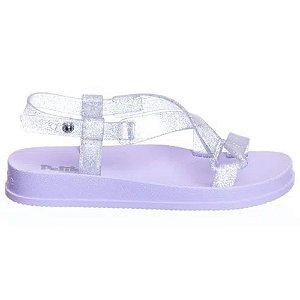 Sandália Petite Jolie Papete Infantil Gliter