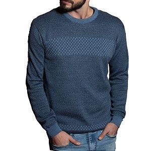 Suéter Código Zero Estonado Azul